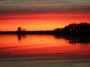 Озеро Вельё - закат