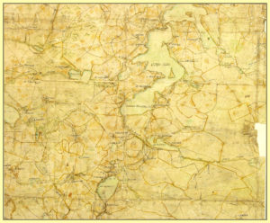 Старинная карта озера Вельё